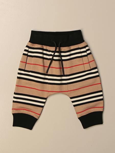 Burberry 条纹棉质慢跑裤