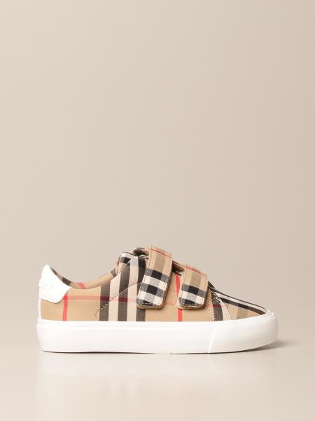 Sneakers Burberry in cotone con motivo Vintage check