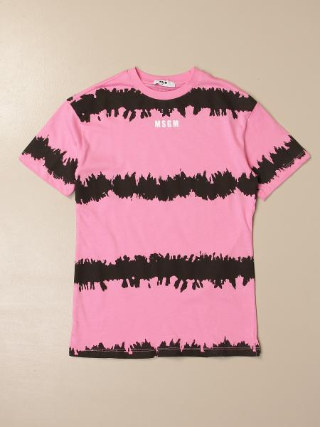Msgm Kids T-shirt in printed cotton