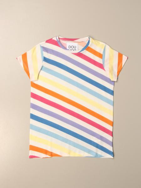 Douuod: Douuod t-shirt in multicolor striped cotton