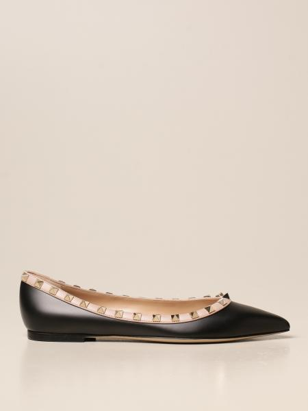 Valentino Garavani Rockstud ballerina in leather with studs