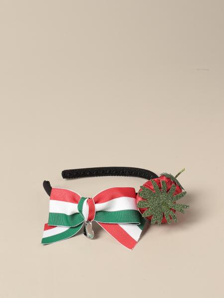 Monnalisa headband with bow and strawberries