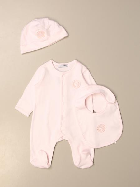 Dolce & Gabbana footed bodysuit + hat + bib set