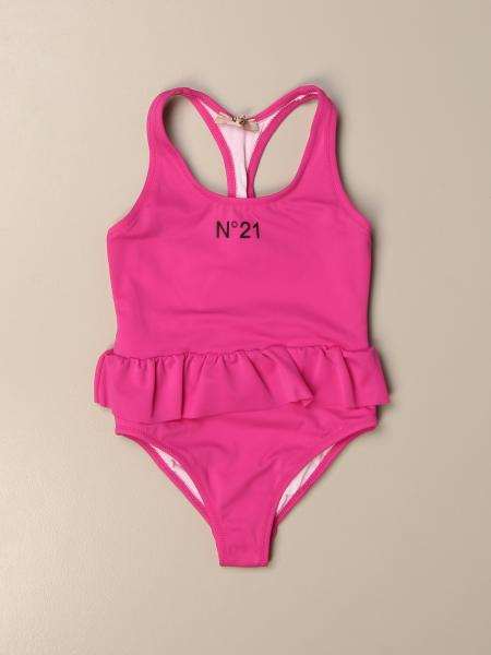 N ° 21 one-piece swimsuit with big logo