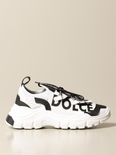 Sneakers Dolce & Gabbana in pelle e knit
