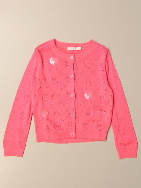 Cardigan a girocollo Billieblush con logo all over