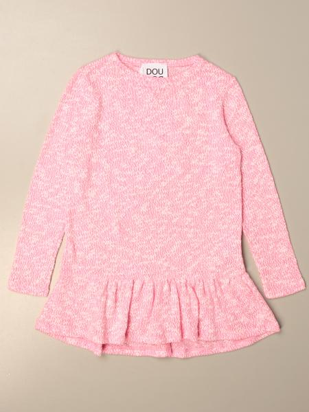 Douuod knit dress with back writing