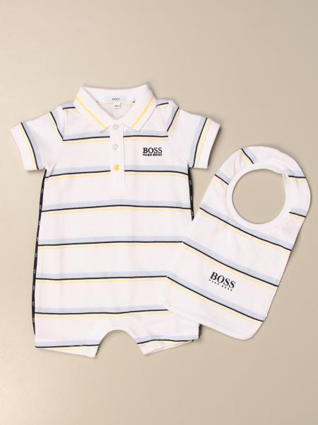 Hugo Boss striped bodysuit + bib set