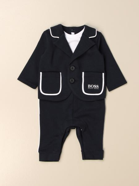 Long Hugo Boss jumpsuit in cotton with fake jacket