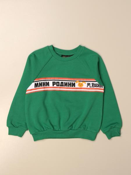 Mini Rodini: Mini Rodini crewneck sweatshirt with logoed band