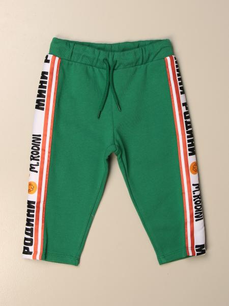 Mini Rodini jogging trousers with logoed bands