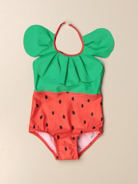 Mini Rodini strawberry patterned one-piece swimsuit