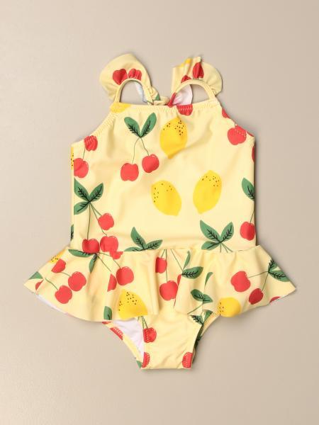 Mini Rodini one-piece swimsuit with fruit pattern