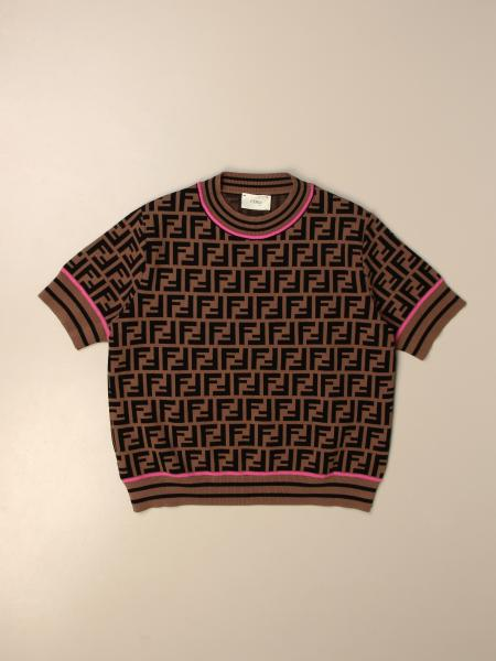 Fendi crewneck sweater with all-over FF monogram
