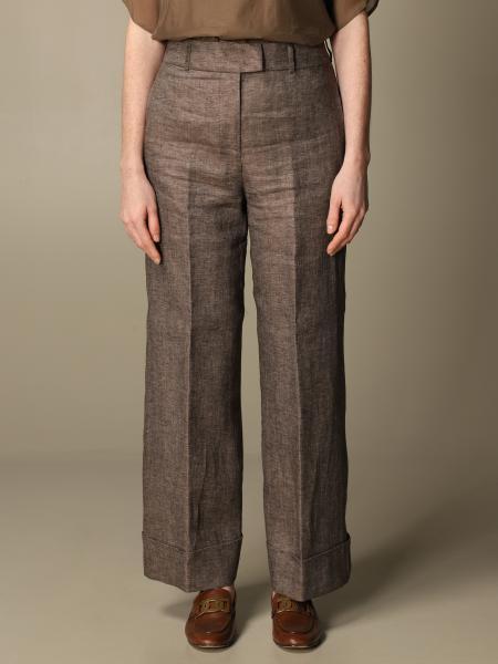 Pantalone ampio Peserico in lino