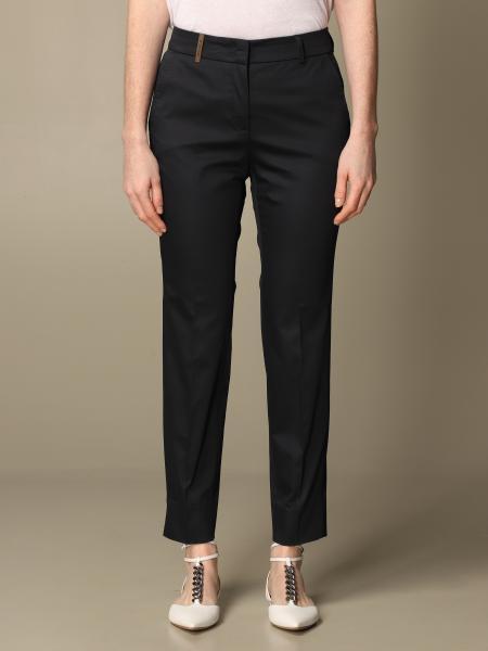 Pantalone slim Peserico in cotone