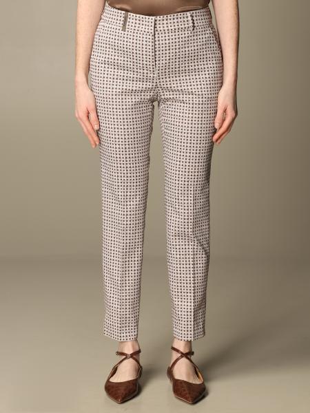 Pantalone Peserico in cotone a fantasia