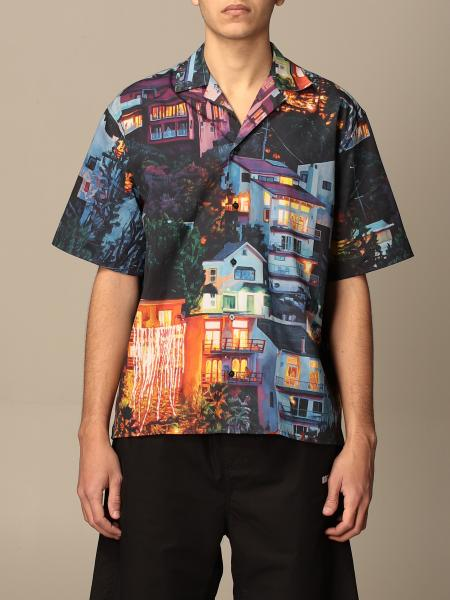 Msgm printed shirt with short sleeves