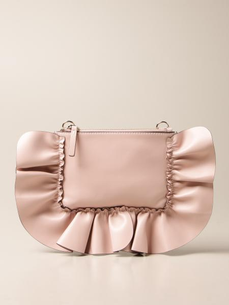 Red(V): Borsa Rock Ruffles Red(V) in pelle con rouches