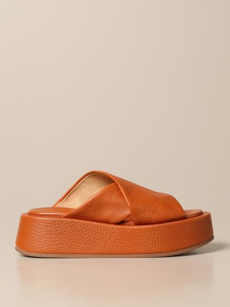Sandalo Piattaforma Marsèll in pelle volonata