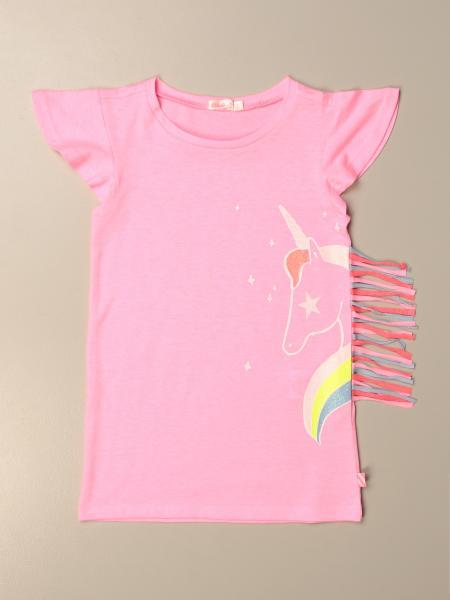 Billieblush: Billieblush cotton dress with pony print and fringes