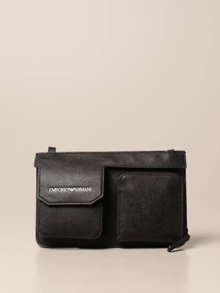 Emporio Armani bag in regenerated saffiano leather