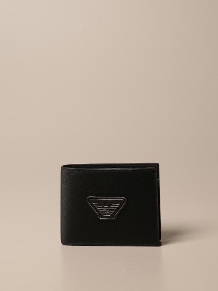 Emporio Armani book wallet with eagle logo