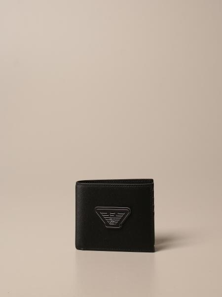 Emporio Armani horizontal book wallet with logo