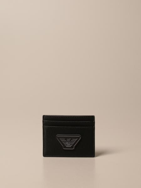 Emporio Armani credit card holder in synthetic leather