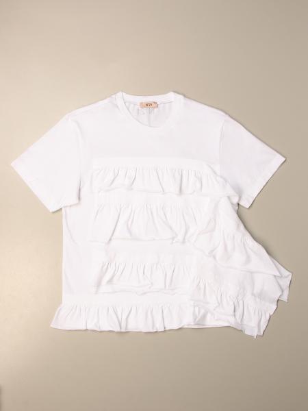 N°21 荷叶边棉质T恤