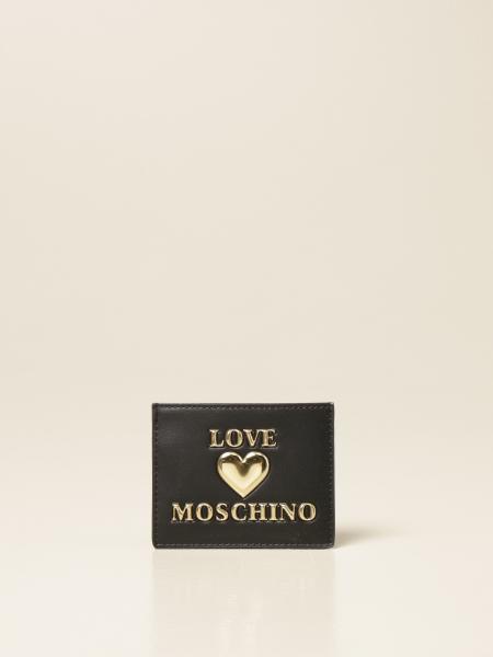 Porta carte di credito Love Moschino in pelle sintetica