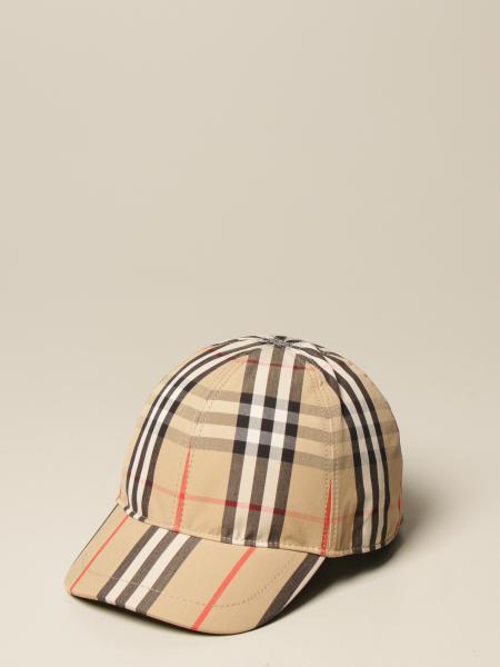 Burberry 棒球帽,带复古格纹图案