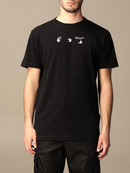 Off White cotton t-shirt with logo