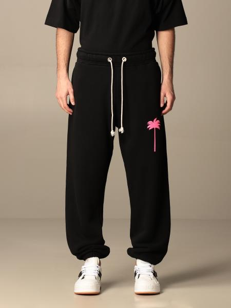 Palm Angels: Palm Angels jogging trousers in cotton with palm tree