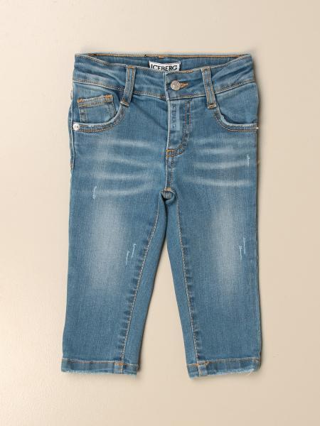 Jeans a 5 tasche Iceberg in denim washed