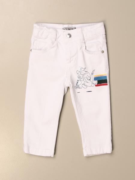 Pantalone a 5 tasche Iceberg con stampa Silvestro