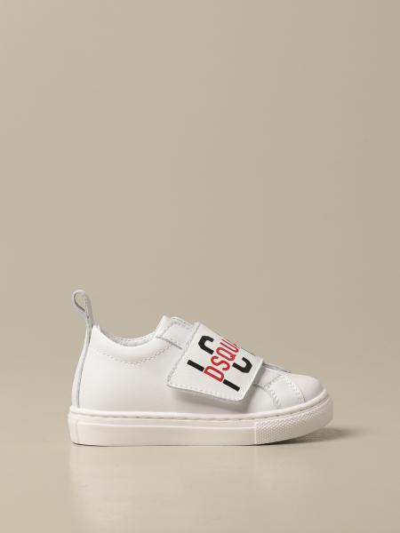 Sneakers Dsquared2 Junior in pelle con logo Icon