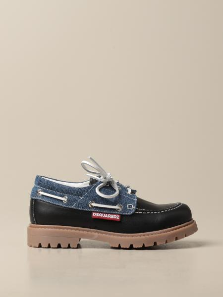Scarpa Dsquared2 Junior in pelle e denim