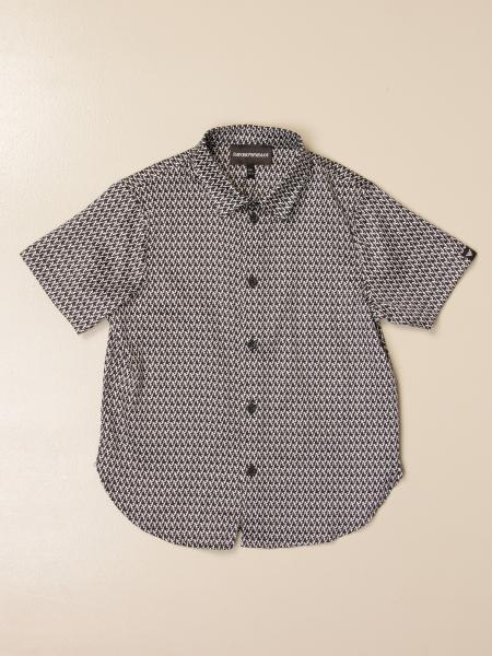Camicia Emporio Armani in cotone a micro fantasia
