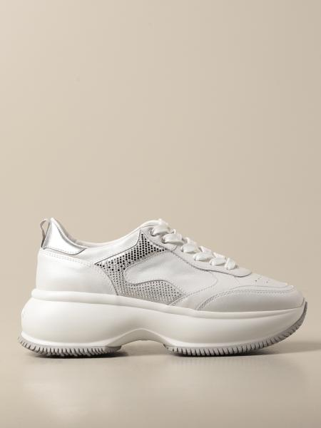Hogan women: H549 Hogan running sneakers in leather with micro applications