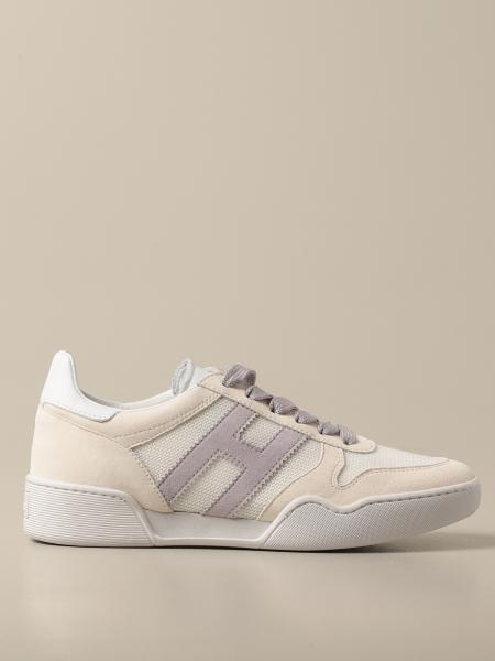 Hogan women: Hogan sneakers in suede leather and micro mesh