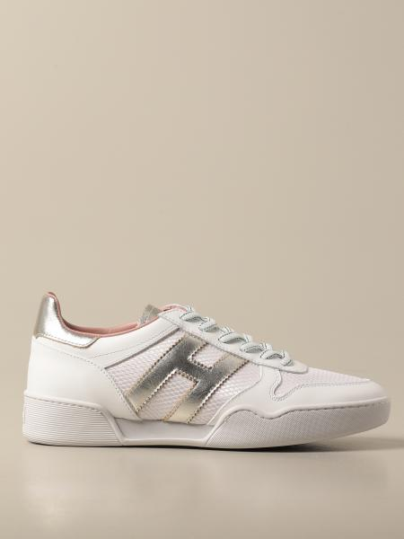 Hogan women: Hogan sneakers in leather and micro mesh