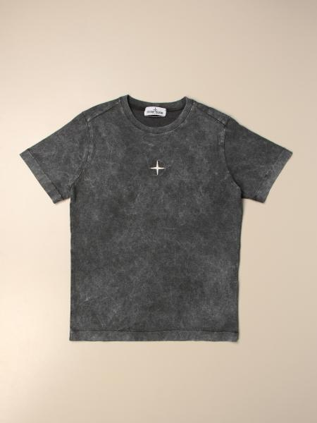 Stone Island Junior T-shirt in washed cotton