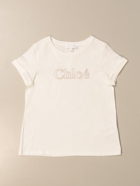 Chloé: Chloé cotton T-shirt with logo