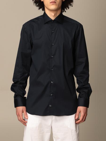 Fay men: Fay poplin shirt with logo