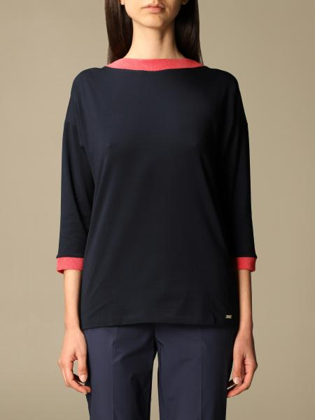 Fay women: Basic Fay sweater with contrasting details