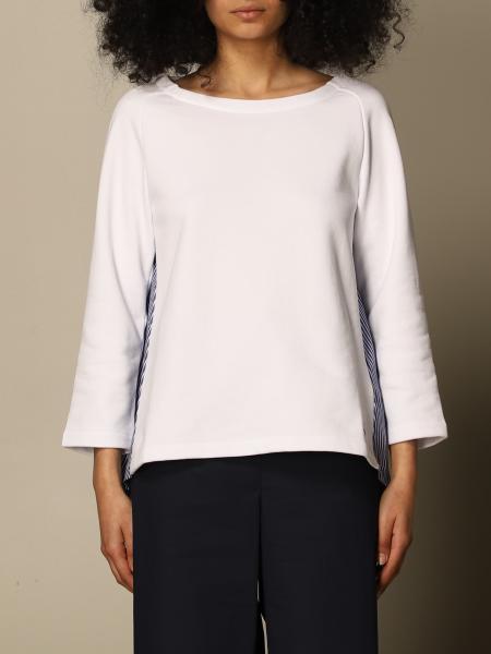 Fay women: Fay sweatshirt with striped back