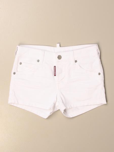Dsquared2 Junior white bull denim shorts