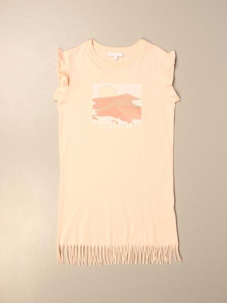 Chloé: Chloé dress in cotton with fringes