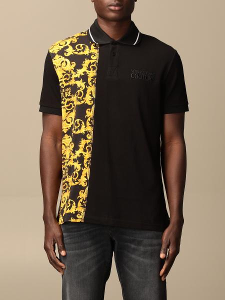 Versace Jeans Couture polo shirt in piqué cotton with baroque print